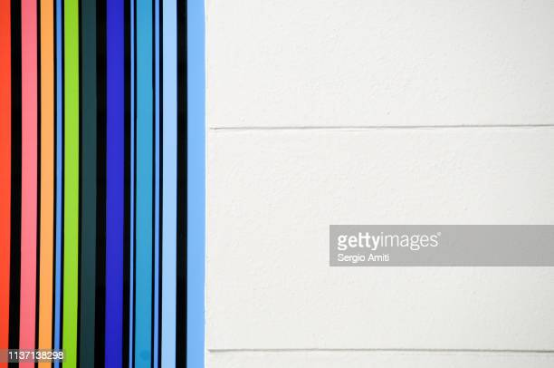 Wall with colourful stripes