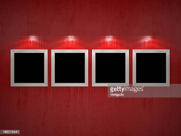 Wall with empty pictures