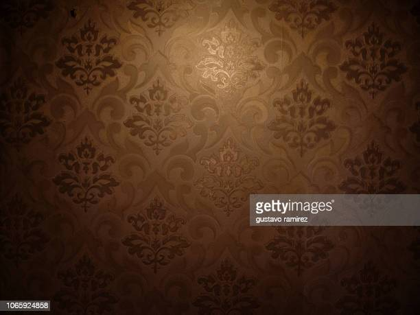 wall with floral texture - victorian wallpaper stock pictures, royalty-free photos & images