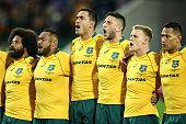 perth australia wallabies players sing australian