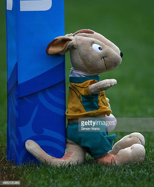 Wallaby mascot is seen during the 2014 Junior World Championships match between Argentina and Australia at ECOLight Stadium Pukekohe on June 2 2014...