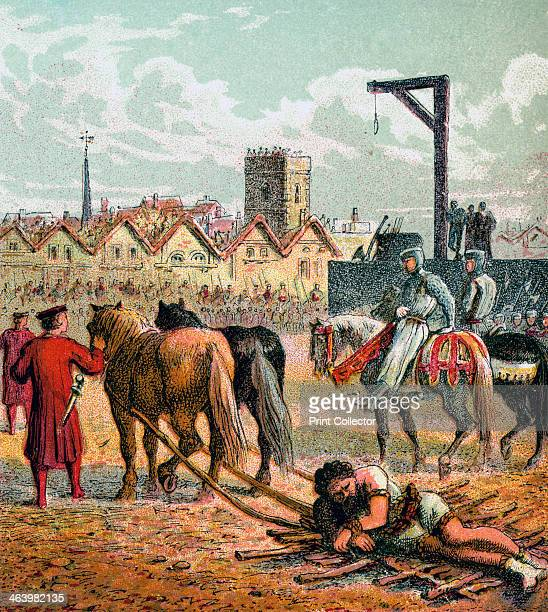 'Wallace Executed' After his trial Scottish patriot William Wallace was stripped naked and dragged through the City of London at the heels of a horse...