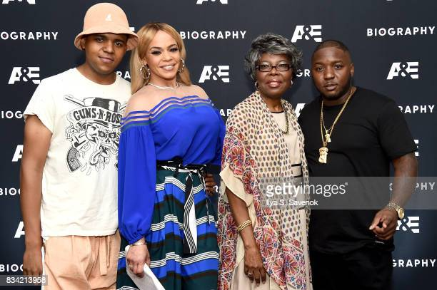 CJ Wallace Faith Evans Voletta Wallace and Lil' Cease attend the screening of AE 'Biography Presents Biggie The Life Of Notorious BIG' at DGA Theater...