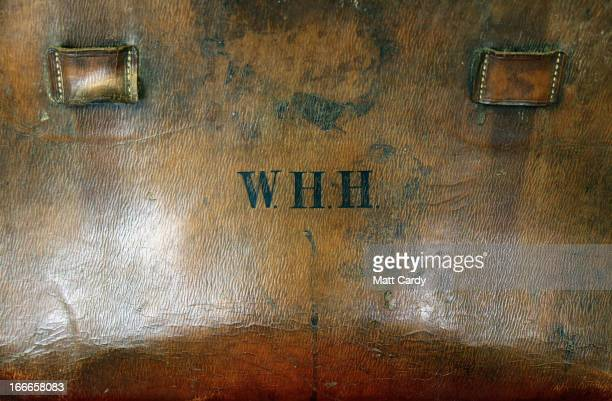 Wallace Hartley's travel case which contained the violin that he played as the band leader of the Titanic is displayed at auctioneers Henry Aldridge...