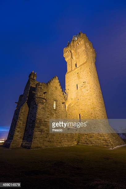 wallace monument, stirling - theasis stock pictures, royalty-free photos & images