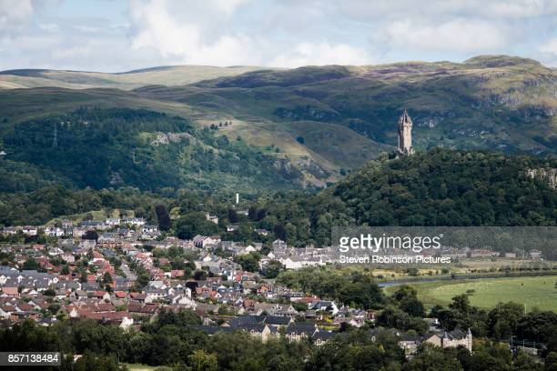 wallace monument, stirling - stirling stock pictures, royalty-free photos & images