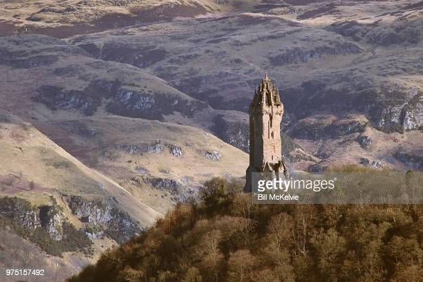 wallace monument, stirling, scotland, uk - stirling stock pictures, royalty-free photos & images