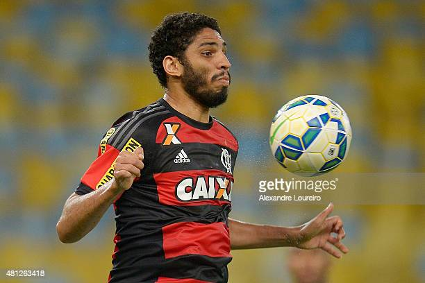Wallace of Flamengo in action during the match between Flamengo and Gremio as part of Brasileirao Series A 2015 at Maracana stadium on July 18 2015...