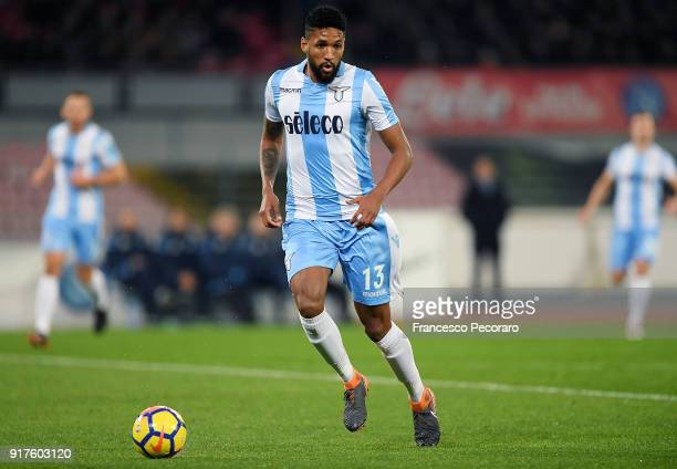 Wallace of SS Lazio in action during the serie A match between SSC Napoli and SS Lazio at Stadio San Paolo on February 10 2018 in Naples Italy