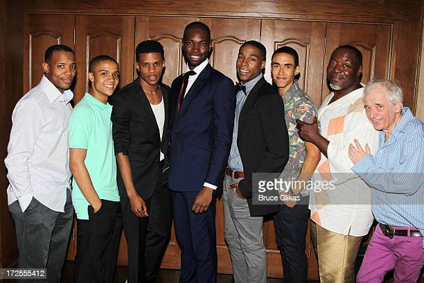 Wallace Smith, Nicholas Ashe, Jeremy Pope, Playwright Tarell Alvin McCraney, Grantham Coleman, Kyle Beltran, Chuck Cooper and Austin Pendleton attend...