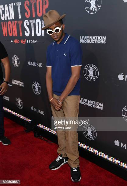 Wallace Son of Notorious BIG attends the Los Angeles Premiere Of 'Can't Stop Won't Stop' at Writers Guild of America West on June 21 2017 in Los...
