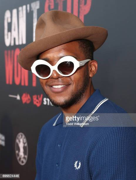 Wallace Son of Notorious BIG attends the Los Angeles Premiere of 'Can't Stop Won't Stop' at the Writers Guild of America West on June 21 2017 in Los...