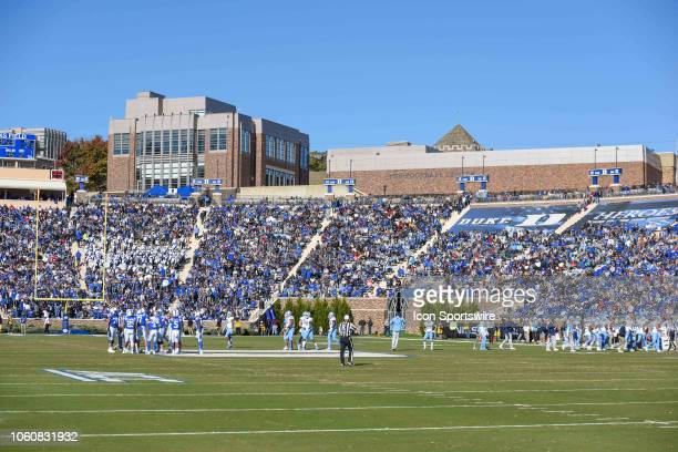 Wallace Wade Stadium during the college football game between North Carolina Tar Heels and the Duke Blue Devils on November 10 at Wallace Wade...