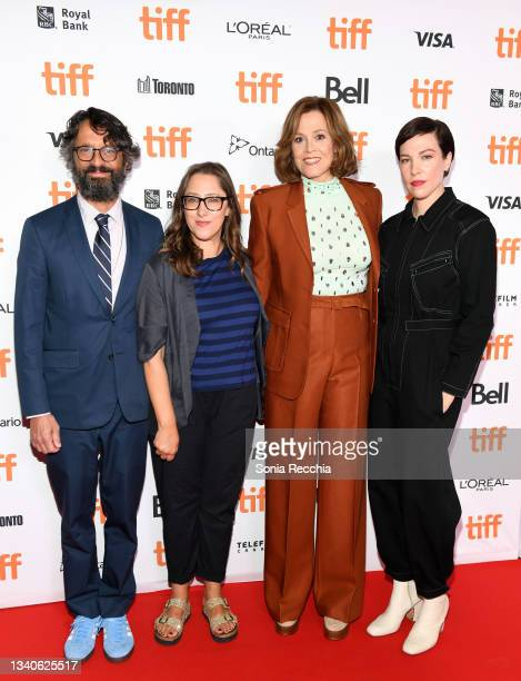 """Wallace Wolodarsky, Maya Forbes, Sigourney Weaver, and Rebecca Henderson attend """"The Good House"""" Premiere during the 2021 Toronto International Film..."""