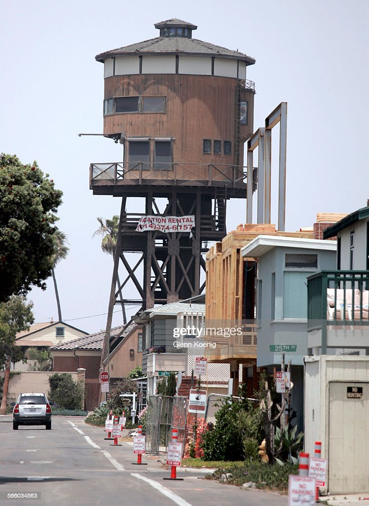 Wallace S Water Tower House Is Located At 1 Anderson St In Sunset Beach This