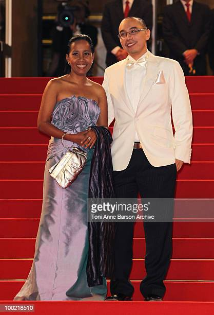 Wallapa Mongkolprasert and Apichatpong Weerasethakul attend the 'Uncle Boonmee Who Can Recall His Past Lives' Premiere at the Palais des Festivals...
