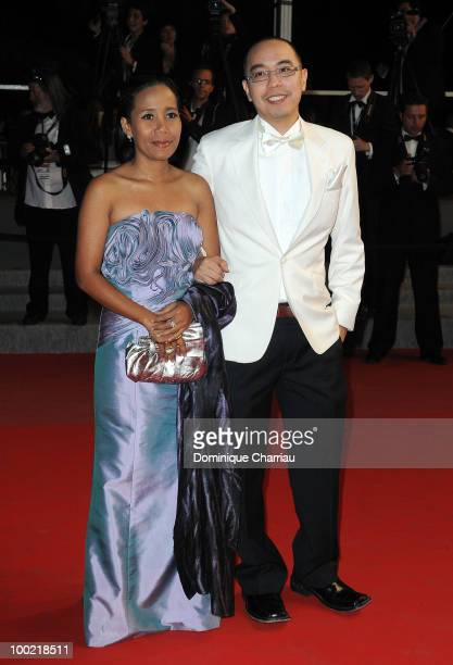 Wallapa Mongkolprasert and Apichatpong Weerasethakul attends the 'Uncle Boonmee Who Can Recall His Past Lives' Premiere at the Palais des Festivals...