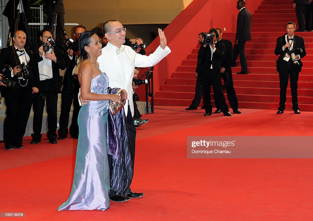 Wallapa Mongkolprasert and Apichatpong Weerasethakul attends the 'Uncle Boonmee Who Can Recall His Past Lives' Premiere at the Palais des Festivals during the 63rd Annual International Cannes Film Festival on May 21, 2010 in Cannes, France.
