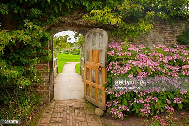 Walled Garden with Hydrangeas
