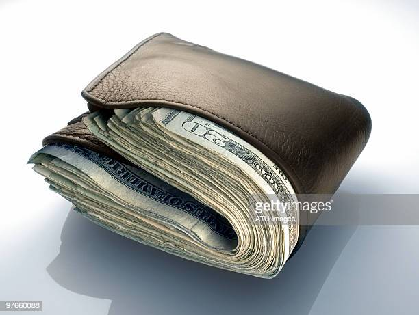 wallet stuffed with money