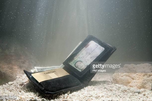 wallet under water - 喪失 ストックフォトと画像