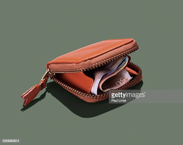 wallet with euros - wallet stock pictures, royalty-free photos & images
