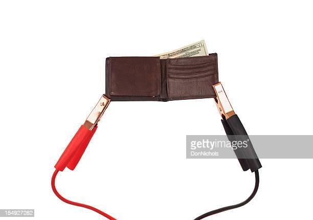 Brieftasche mit Starterkabeln