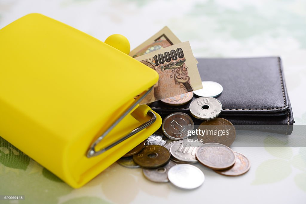 Wallet with money : Stock Photo