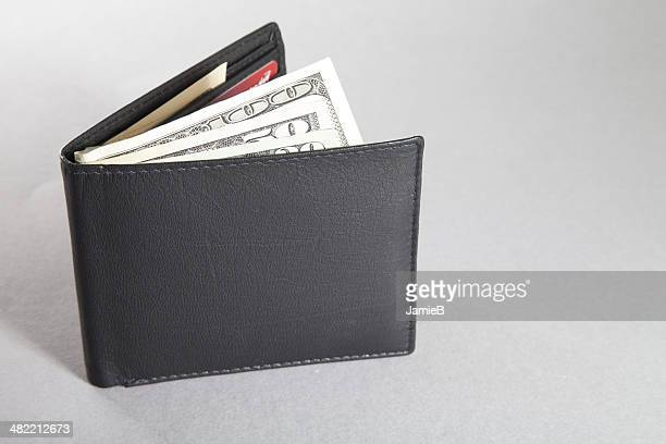 Wallet with US dollar bills