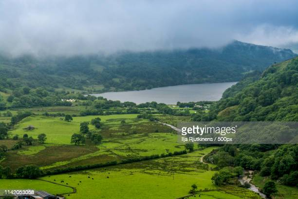 walley lake - llandovery stock photos and pictures