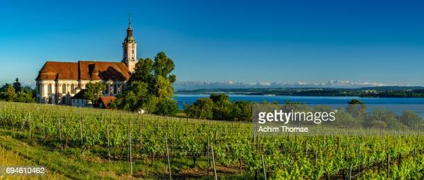 wallfahrtskirche birnau, lake constance, germany, europe - bodensee stock-fotos und bilder