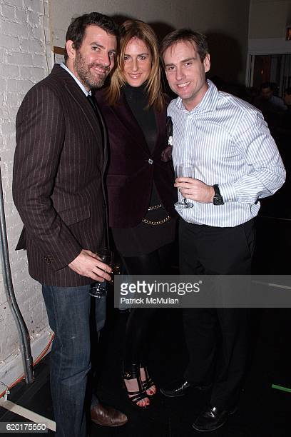 V P Walling Margo Bowers and Mike Kelleher attend PAUL TAYLOR DANCE Hosts Cocktails for YOUNG PATRONS at 552 Broadway on November 11 2008 in New York...
