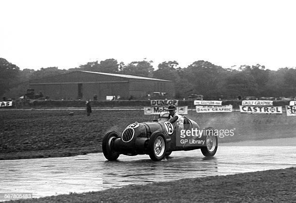 RV Wallington driving an AlfaAitken exBimotore at Goodwood England 30th September 1950