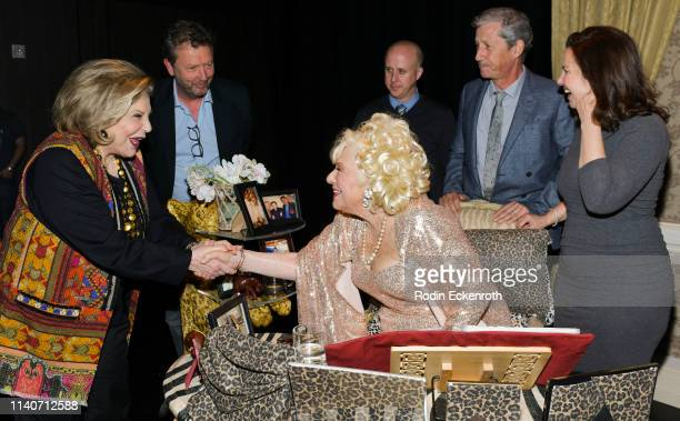 "Wallis Annenberg, Paul Crewes, Renée Taylor, Benjamin Salisbury, Charles Shaughnessy, and Fran Drescher at the LA Premiere of Renee Taylor's ""My Life..."