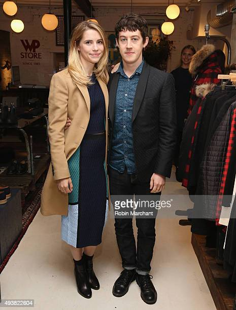 Wallis CurrieWood and Alex Sharp attend WP Store Brooklyn 30th Anniversay on October 22 2015 in Brooklyn New York