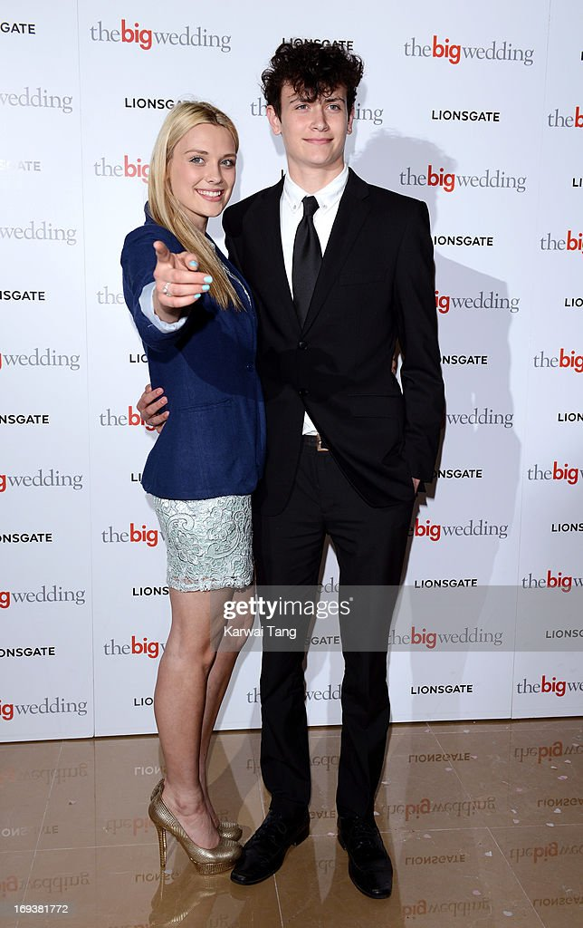 Wallis Day and guest attends a special screening of 'The Big Wedding' at May Fair Hotel on May 23, 2013 in London, England.