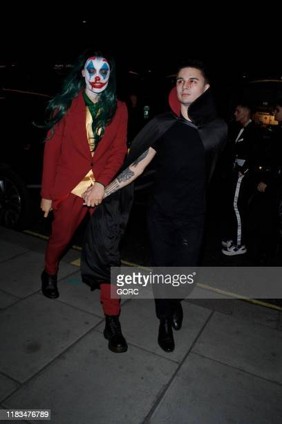 Wallis Day and guest seen attending the HallowZeem event at M Restaurant in Victoria on October 25 2019 in London England