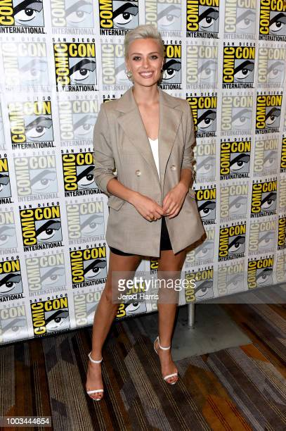 Wallis Day attends the 'Krypton' Press Line during ComicCon International 2018 at Hilton Bayfront on July 21 2018 in San Diego California