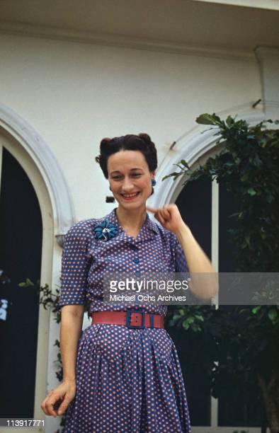 Wallis Duchess of Windsor outside Goverment House in Nassau the Bahamas circa 1942 The Duke of Windsor served as Governor of the Bahamas from 1940 to...