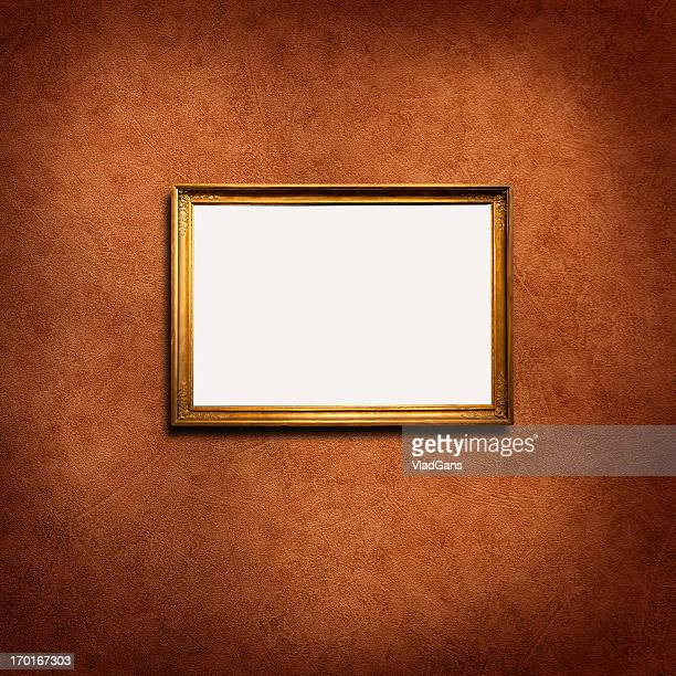 wallpaper with empty picture frame