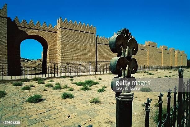 Walls along the Processional way Babylon Iraq Babylonian civilisation 2nd millennium 6th century BC