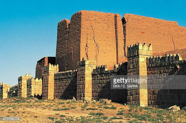 Walls and door of Adad, Nineveh, surroundings of Mosul , Iraq. Assyrian civilisation, 8th-7th century BC.