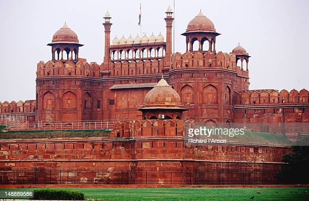 Walls and Lahore Gate at Red Fort or Lal Qila.