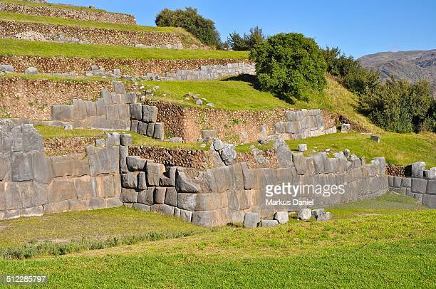 """walls and stones of sacsayhuaman, cusco, peru - """"markus daniel"""" stock pictures, royalty-free photos & images"""