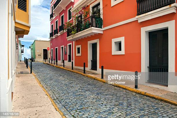 Walls and street in Old San Juan