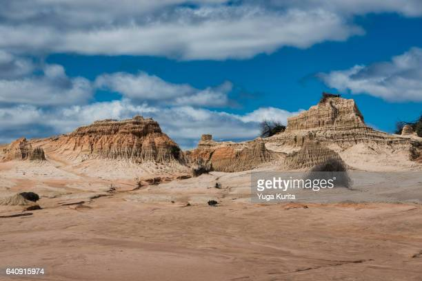Walls of China in Mungo National Park on a Sunny Day