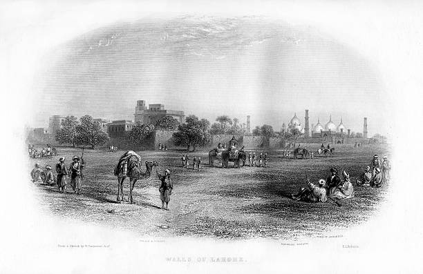 `Walls of Lahore` 19th century View of the city which at that time was in India After Partition it became part of the newlycreated country of Pakistan