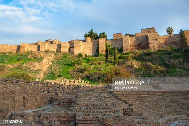 Walls of the Alcazaba (Citadel) of Malaga and part of the Roman Forum