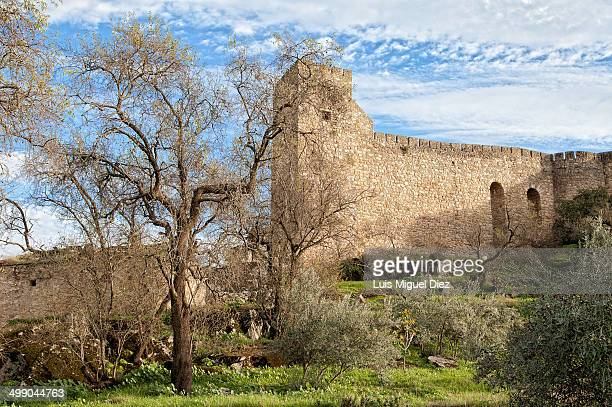 CONTENT] Walls of the castle of Trujillo seen from behind