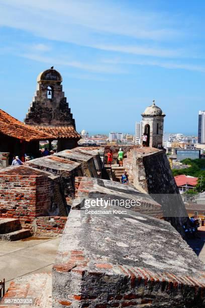 Walls of the Fortress of Castillo San Felipe, Cartagena, Colombia